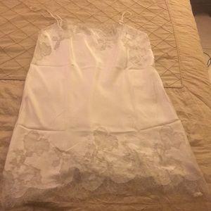 Victoria's Secret White Satin Slip Dress